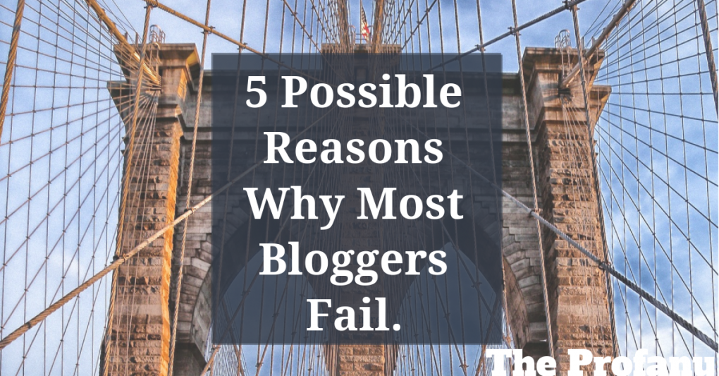 5 Possible Reasons Bloggers Fail 6