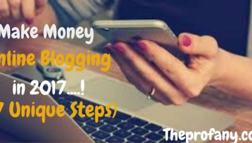 Make money online blogging