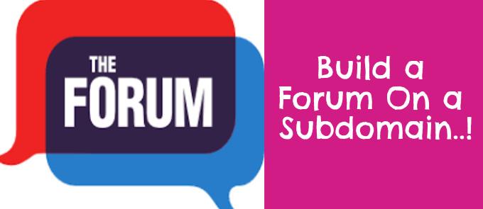 build a forum