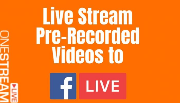 How to Live Stream Pre-Recorded Videos to Facebook Live 2